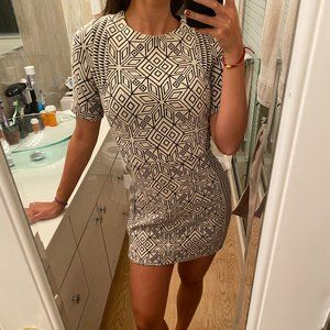 Size 8 H&M Geo Print Mini Dress